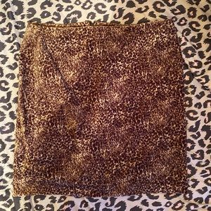 Talbots Animal Print Career Pencil Skirt
